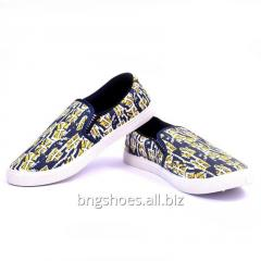 N-BLUE-YELLOW CANVAS SHOES