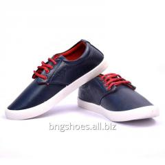 FORMAL NAVY BLUE CANVAS SHOES