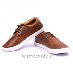 BROWN-TAN CANVAS SHOES