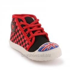 BLACK-RED KIDS SHOES