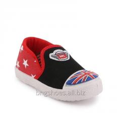 BLACK RED KIDS SHOES