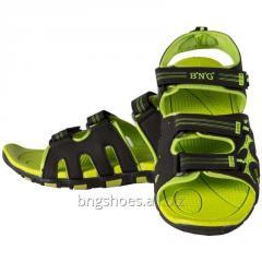 BLACK-GREEN SANDALS