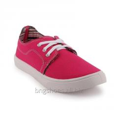 PINK WOMEN CANVAS SHOES