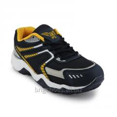 NAVY BLUE-YELLOW SPORTS SHOES