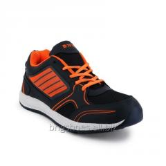 NAVY BLUE-ORANGE SPORTS SHOES