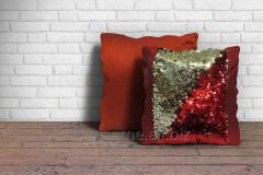 Red Sparkle Decorative Cushion