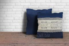 Blue Color Embroidered Cushion