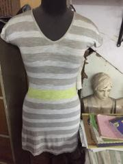 White Grey Women dress