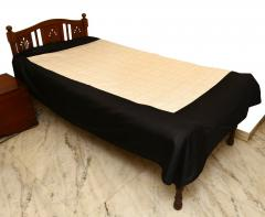 Grey-Black embroidered Bed Cover