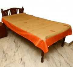 Golden-Orange embroidered Bed cover