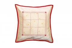 Gudri Style Red-Beige Cushion Cover