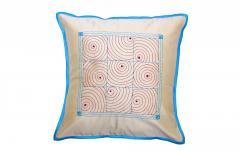 Gudri Style Blue-Beige Cushion Cover