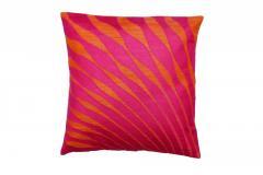Mor-Pankh Style Orange Cushion Cover