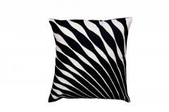 Mor-Pankh Style Black Cushion Cover