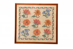 Marigold Flower Embroidery Work Wall Hanging