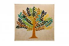 Multicolour Peepal Tree Pattern Wall hanging