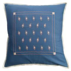 Blue Color Geometric Design Cushion Cover