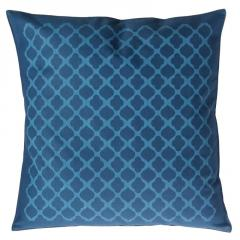 Jaali Pattern  Blue Cushion Cover
