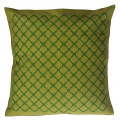 Jaali pattern Green Colour Cushion Cover