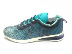 Sea Green-Black Sports Shoes