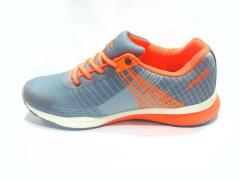 Grey - Orange Sports Shoes