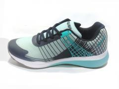 Black - Sea Green Sports Shoes