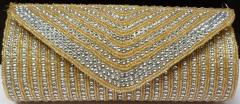 Cream colour Beaded Ladies Purse