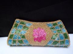 Gold Beaded Ladies Purse