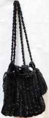 Black Beaded Ladies Purse