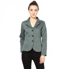 Green polar fleece jacket