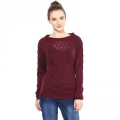 Marsala boat-neck sweater