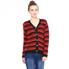 Black / Orange striped Cardigan