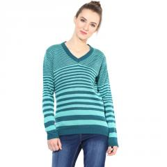 Green / Blue striped Pullover