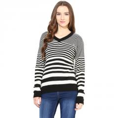 Off - White and black striped pullover