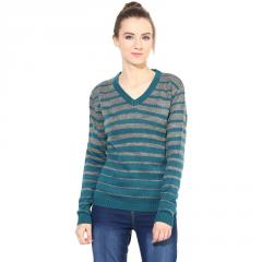 Green/Grey Striped Pullover