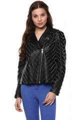 Full Sleeve Black leather jacket
