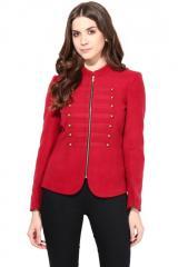 Maroon felt jacket