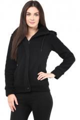 Black polar fleece jacket