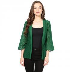 Green Lace Shrug