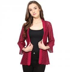 Marsala Lace Shrug