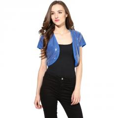 Blue sequenced shrug