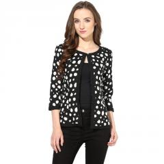 Black polka print shrug