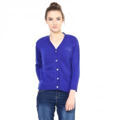 Blue V Neck Line With Short Sleeve