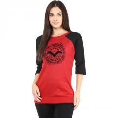 Red round neck sweatshirt