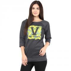 Charcoal melange round neck sweatshirt