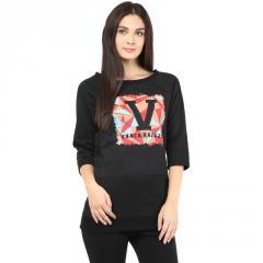Black round neckline sweatshirt