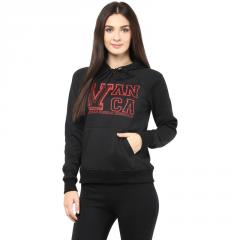 Hooded Sweatshirt In Black Color With V Patch
