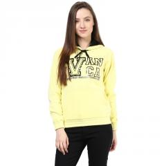 Yellow hooded sweatshirt