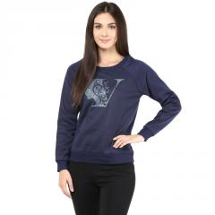 Navy Blue Round Neck Sweatshirt
