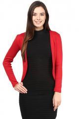 Red rib jacket
